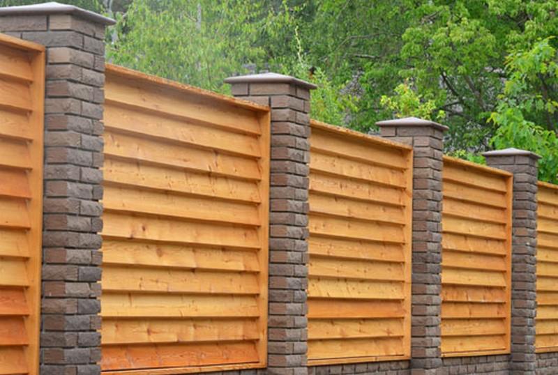 забор жалюзи деревянный фото