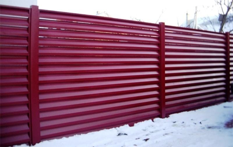 забор жалюзи металлические фото