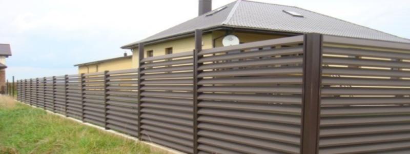 Забор жалюзи: его особенности и самостоятельное изготовление
