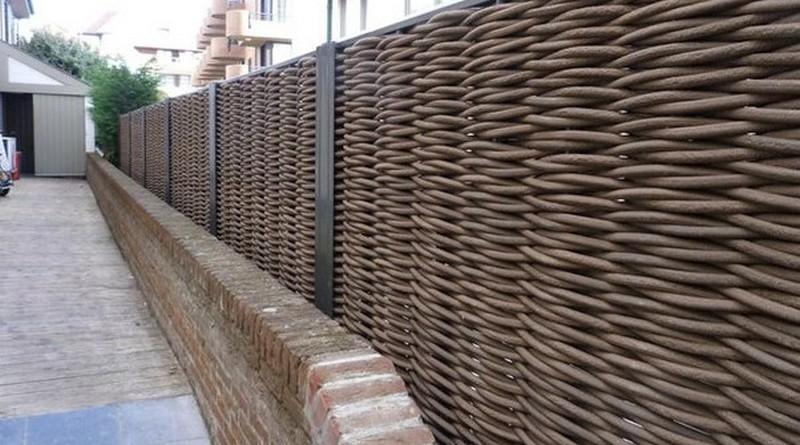 забор плетень своими руками фото