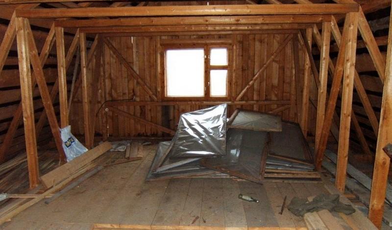 чердак под комнату фото