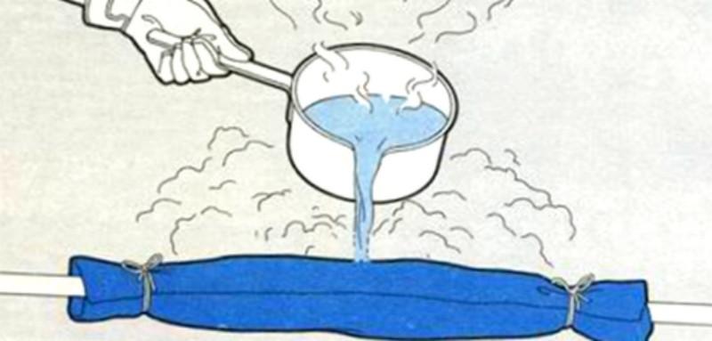 как отогреть замерзший водопровод фото
