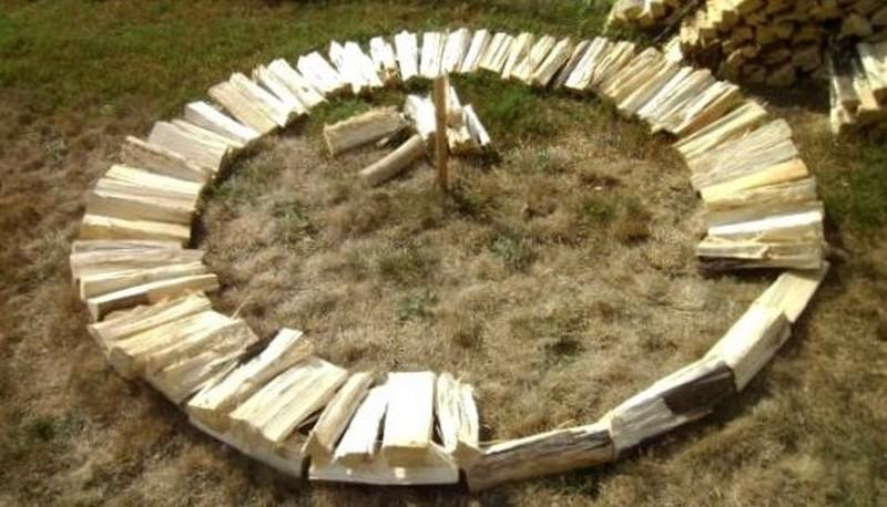 поленница для дров своими руками фото
