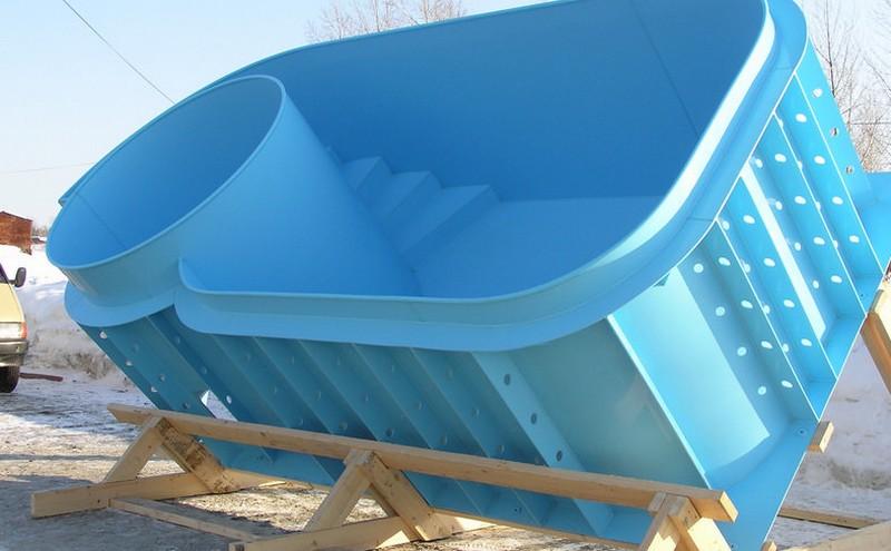 готовые бассейны из полипропилена фото