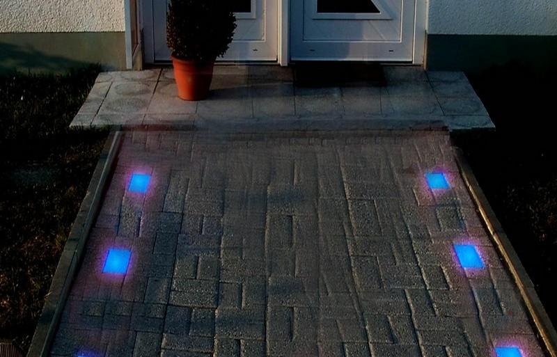 светящаяся тротуарная плитка своими руками фото