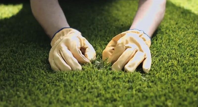 искусственная зеленая трава фото