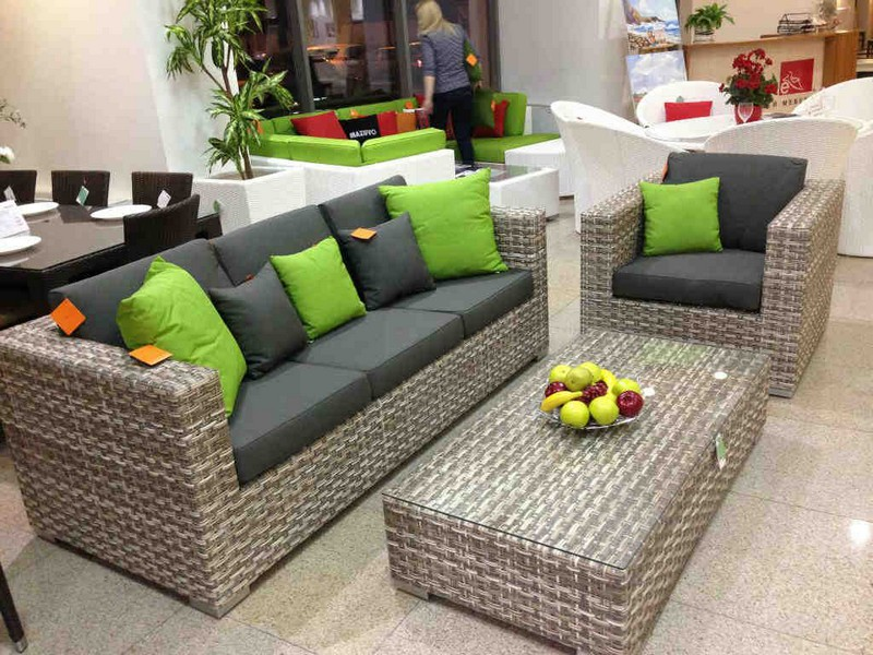 набор плетеной мебели для дачи фото