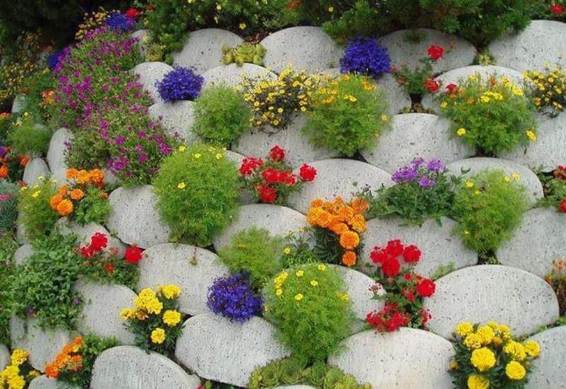 цветочная стена своими руками фото