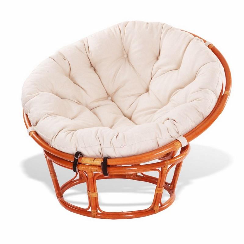 кресло папасан из ротанга фото