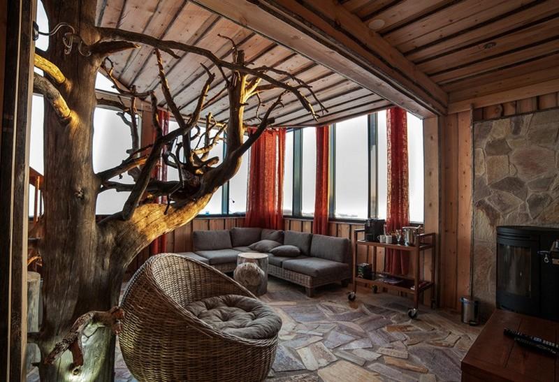 интерьер дачного дома в стиле эко фото
