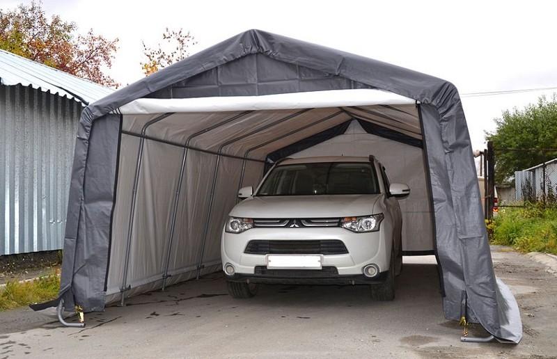 тентовый гараж для автомобиля фото