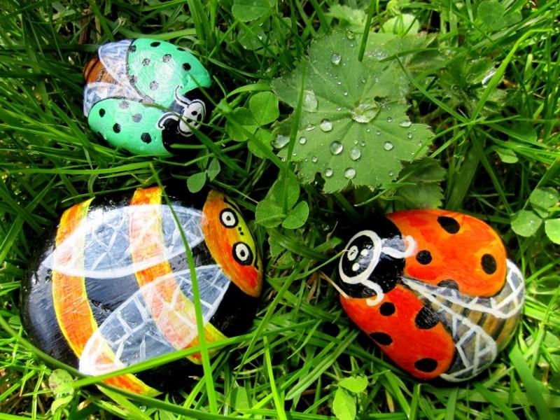 роспись камней для сада фото