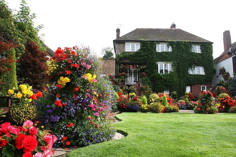 газон в английском саду фото