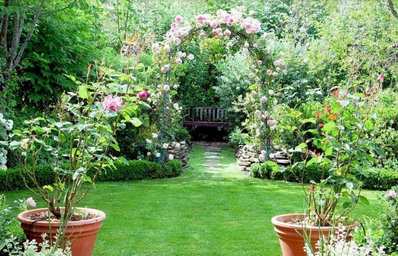 озеленение английского сада фото