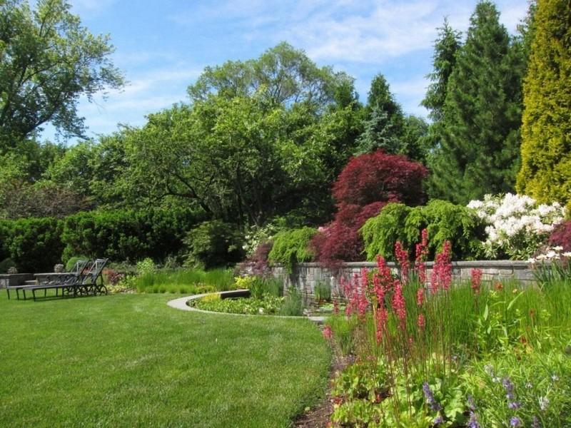 сад в английском стиле фото