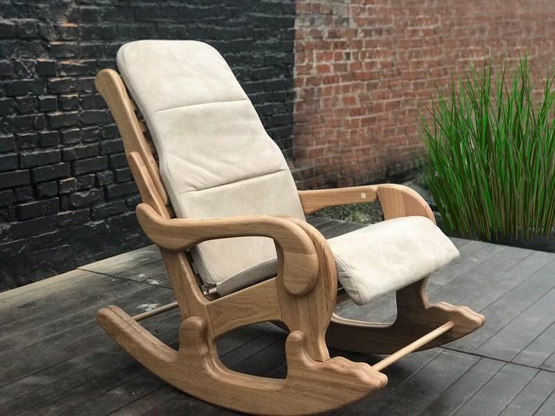 кресло качалка с подножкой фото