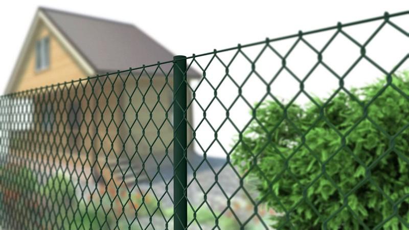 забор из сетки рабица фото