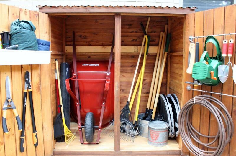 идеи хранения инструментов на даче
