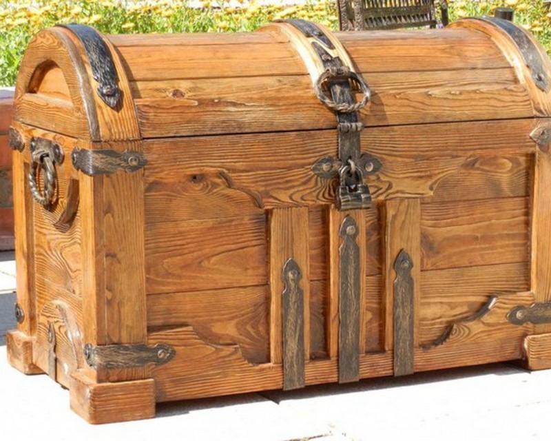 деревянный сундук для хранения фото