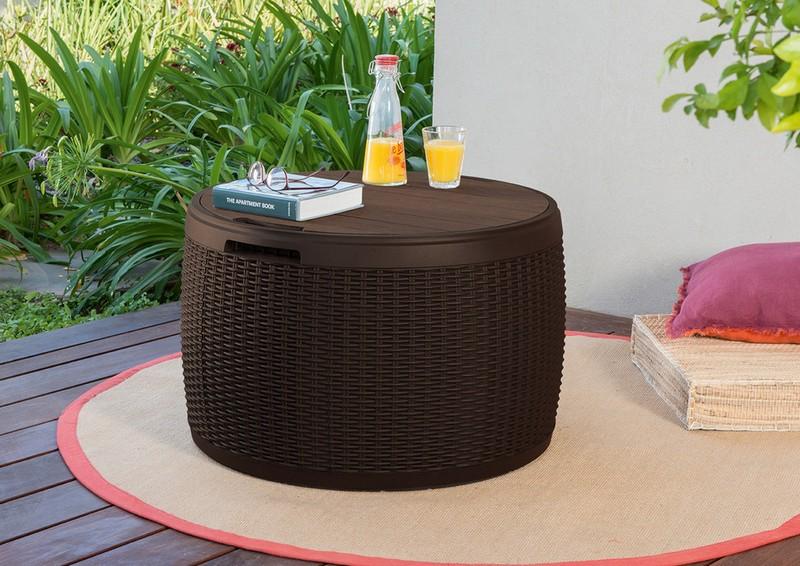 плетеный стол сундук фото