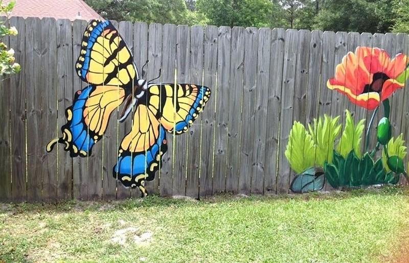 рисунки на заборе фото