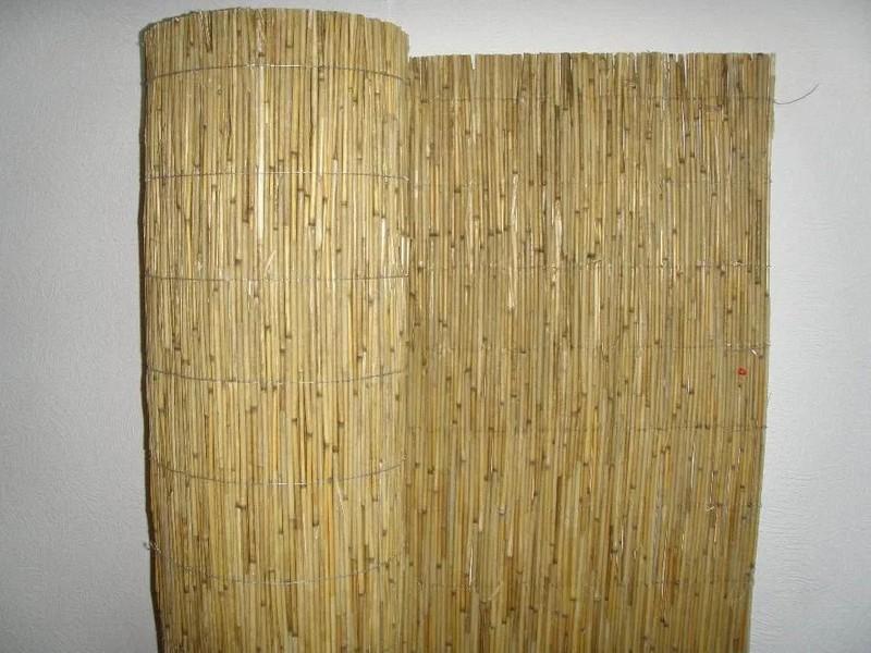 рулонный забор из камыша фото
