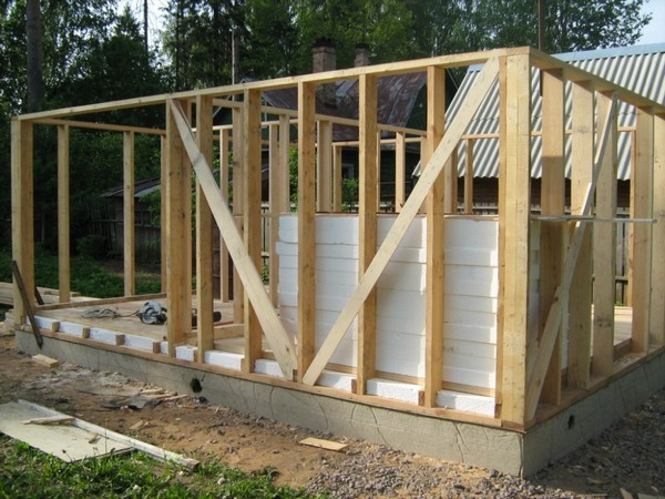 дачный домик по каркасной технологии фото