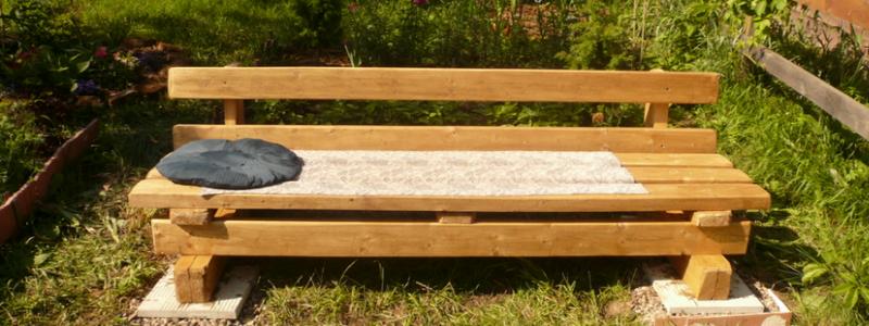 Скамейка для дачи своими руками: варианты изготовления