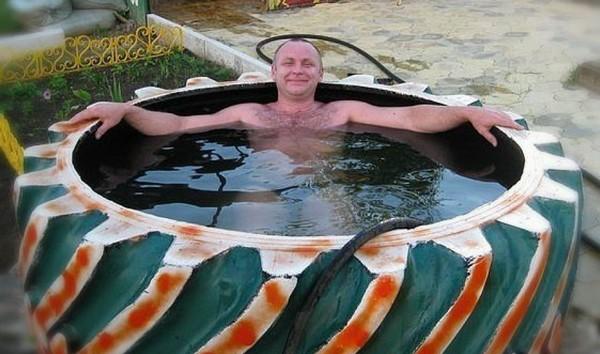 мини бассейн на даче своими руками фото