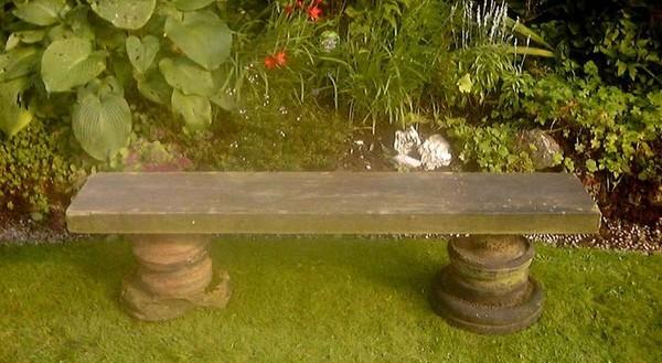 скамейка своими руками из дерева для дачи фото