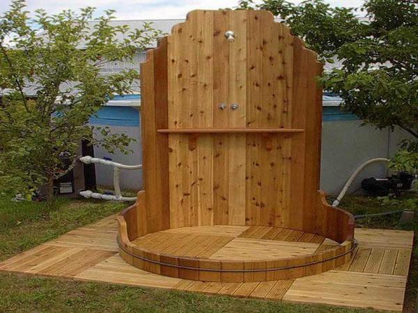 строим летний душ на даче своими руками фото