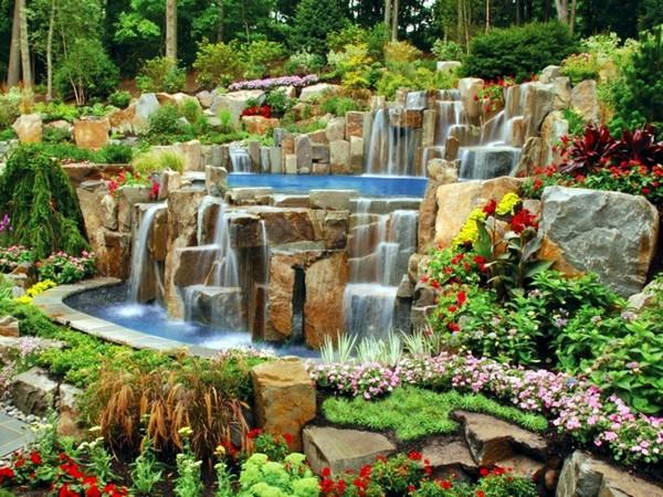 водопад на даче своими руками фото