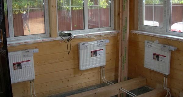 водяное отопление на даче фото