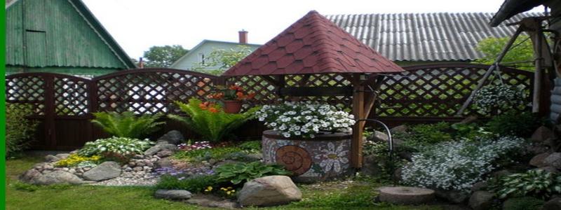Декоративный колодец на даче своими руками: как сделать