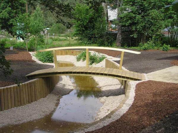 деревянный мостик для дачи своими руками фото