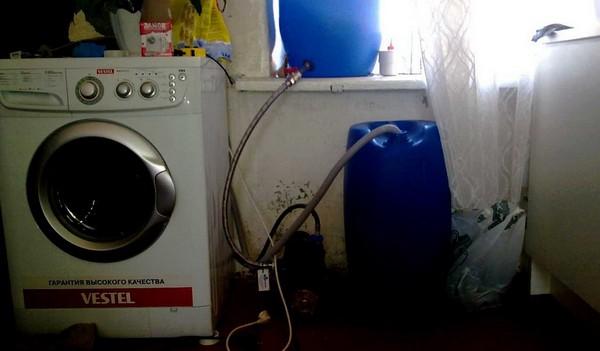 как подключить стиральную машину на даче фото