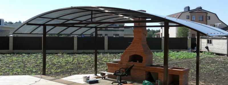 Навес для мангала на даче своими руками: варианты и технология изготовления