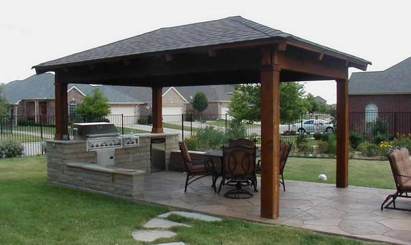 как построить летнюю кухню на даче фото