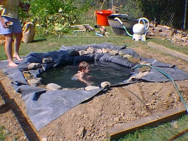 Пруд на даче для купания своими руками пошагово в