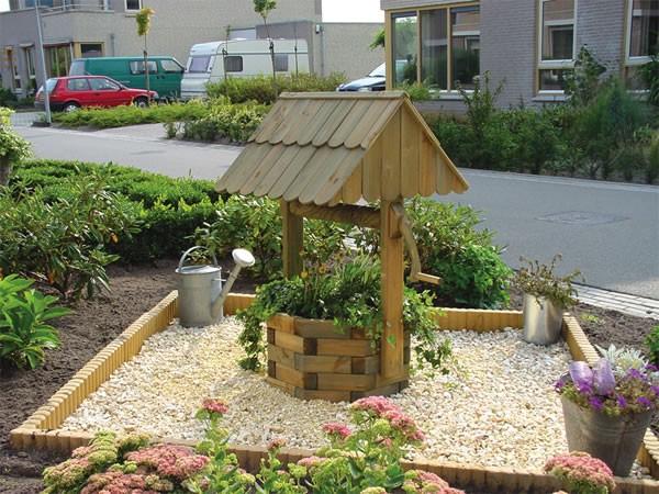 Как сделать декаративный колодец в сад