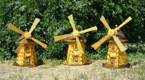 декоративная мельница для сада фото