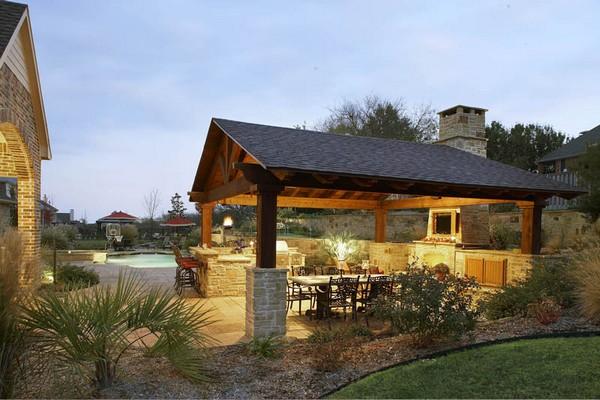 как построить кухню на даче своими руками фото