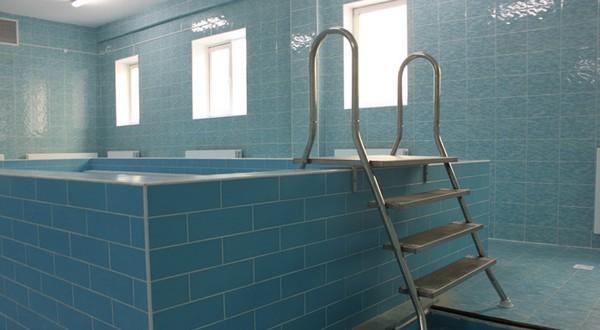 лестница в бассейн из нержавейки фото