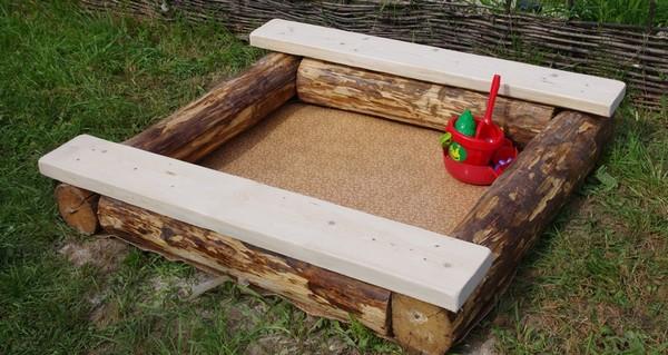 песочница для дачи с крышкой фото