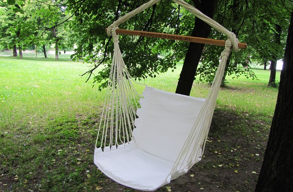 подвесное кресло на дачу своими руками фото