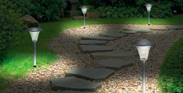 светильник на солнечных батареях садовый фото