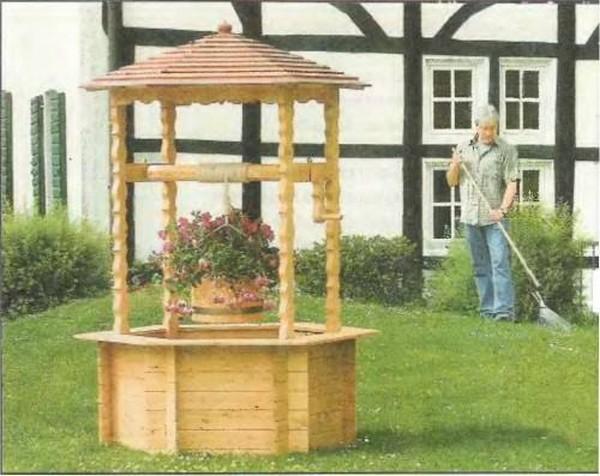 декоративный домик для колодца фото