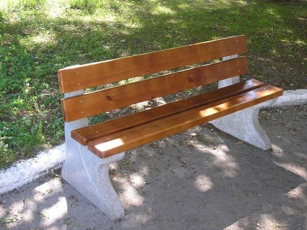 деревянная скамейка со спинкой своими руками фото
