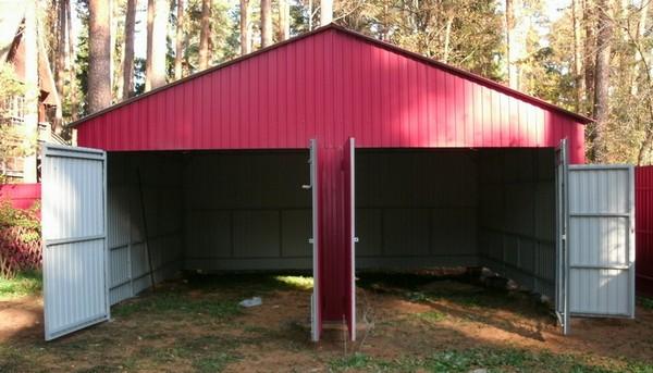 как построить гараж на даче своими руками фото