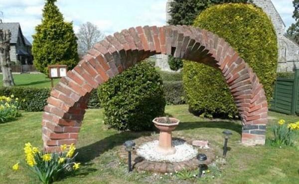 как сделать садовую арку своими руками фото